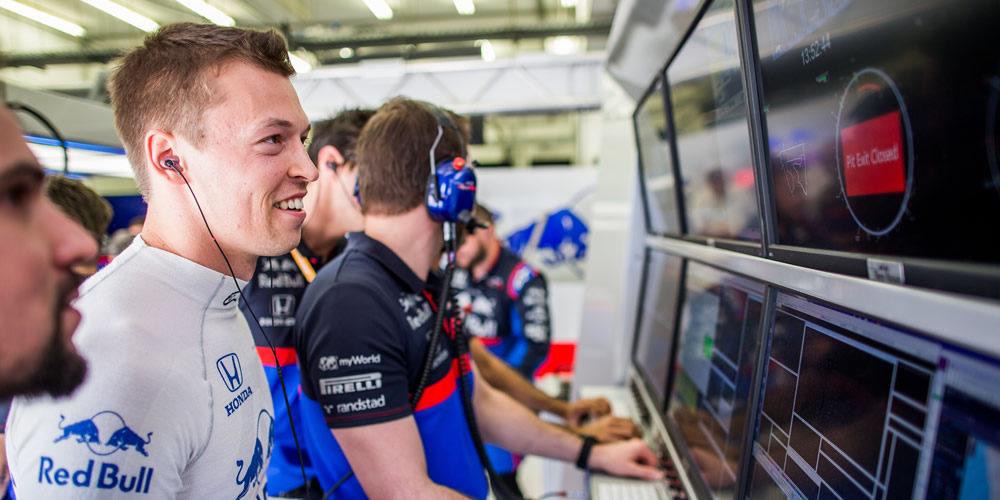 Bahrain Grand Prix free practice with Daniil Kvyat Scuderia Toro Rosso