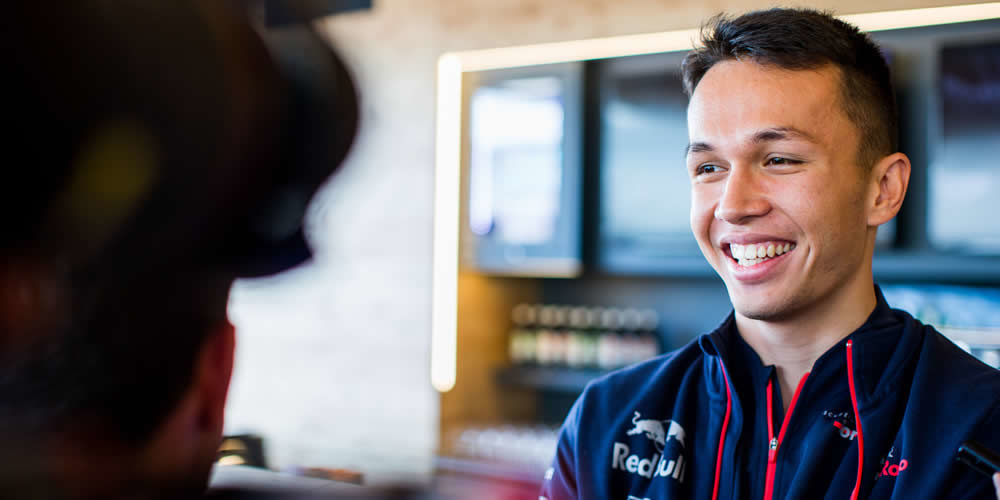 Spanish GP free practice 2019 with Alex Albon Scuderia Toro Rosso