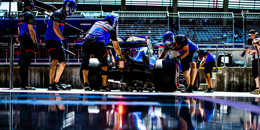 Austrian F1 qualifying 2019 with Daniil Kvyat Scuderia Toro Rosso