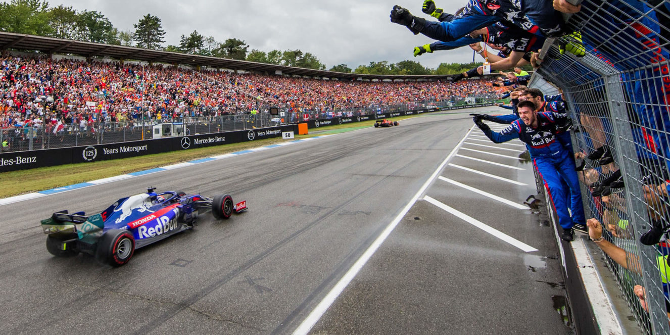 F1 race strategy german Grand Prix 2019 with Daniil Kvyat Scuderia Toro Rosso