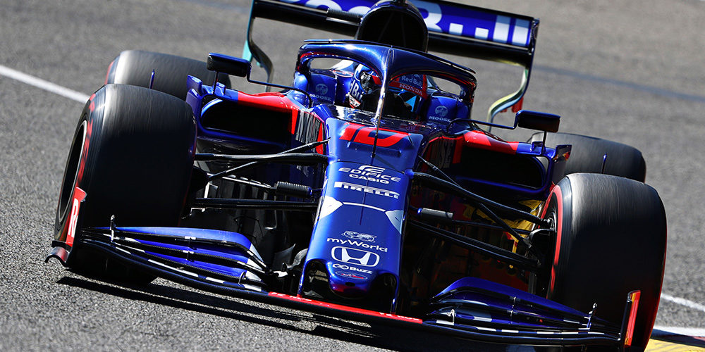 F1 belgium Grand Prix free practice 2019 with Pierre Gasly Scuderia Toro Rosso