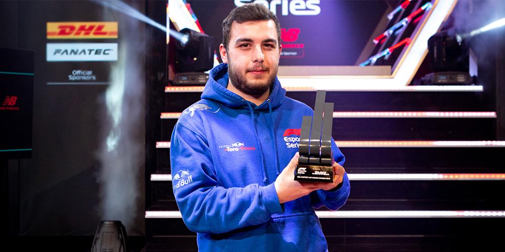 F1 Esport 2019 Patrik Holzmann fastest laps award Scuderia Toro Rosso