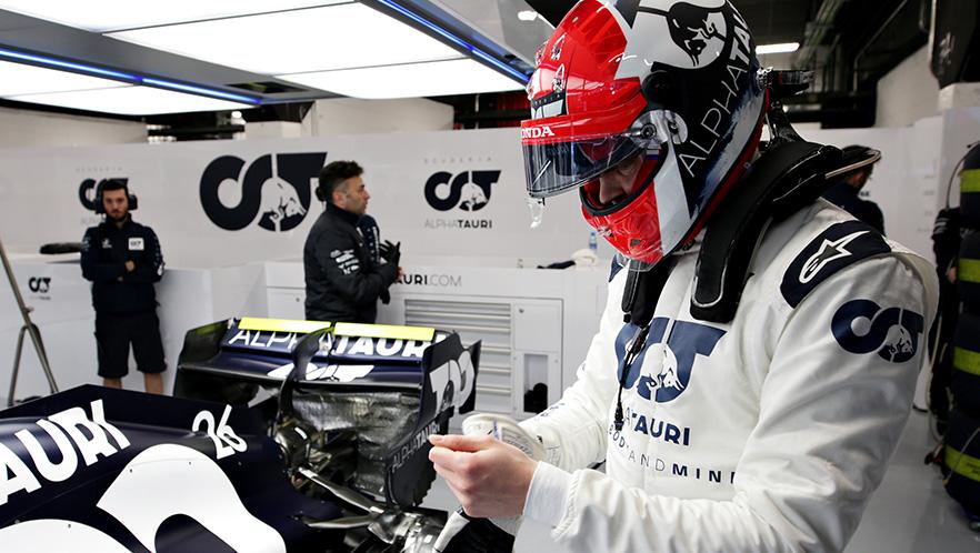F1 winter testing 1 day3 with Daniil Kvyat Scuderia AlphaTauri
