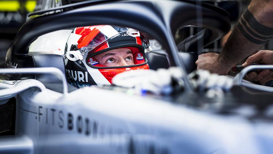 British Grand Prixview 2020 with Daniil Kvyat by Scuderia AlphaTauri