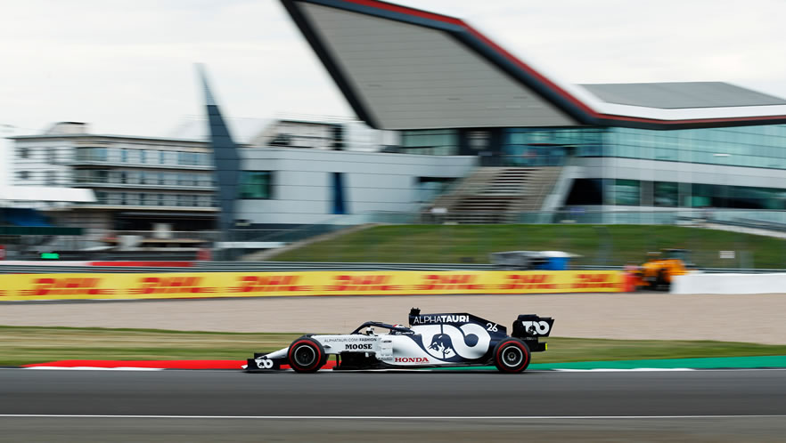 70TH Anniversary Grand Prix qualifying with Daniil Kvyat by Scuderia AlphaTauri