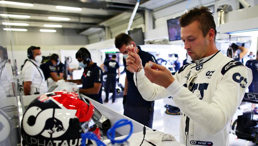 British GP 2020 with Daniil Kvyat by Scuderia AlphaTauri