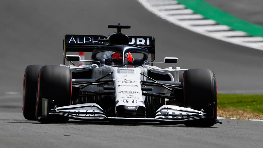 GP Gran Bretagna 2020 con Daniil Kvyat della Scuderia AlphaTauri