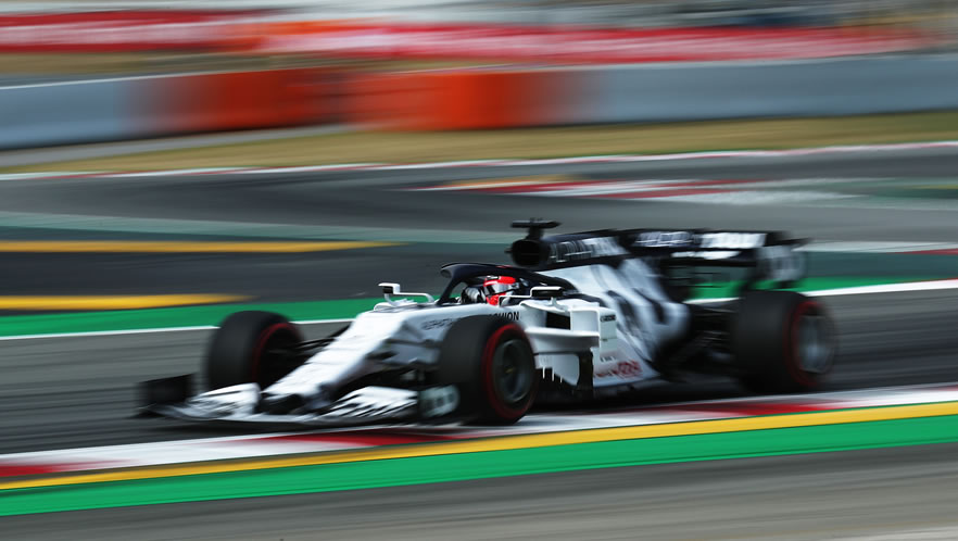 Spanish Grand Prix free practice 2020 with Daniil Kvyat by Scuderia AlphaTauri