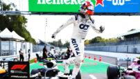 Pierre celebrates Monza Win