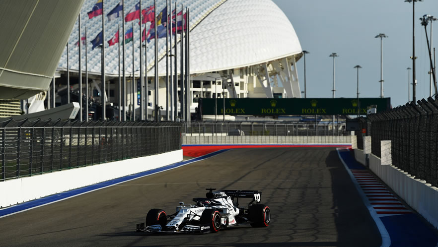 Russian Grand Prix free practice 2020 with Daniil Kvyat by Scuderia AlphaTauri