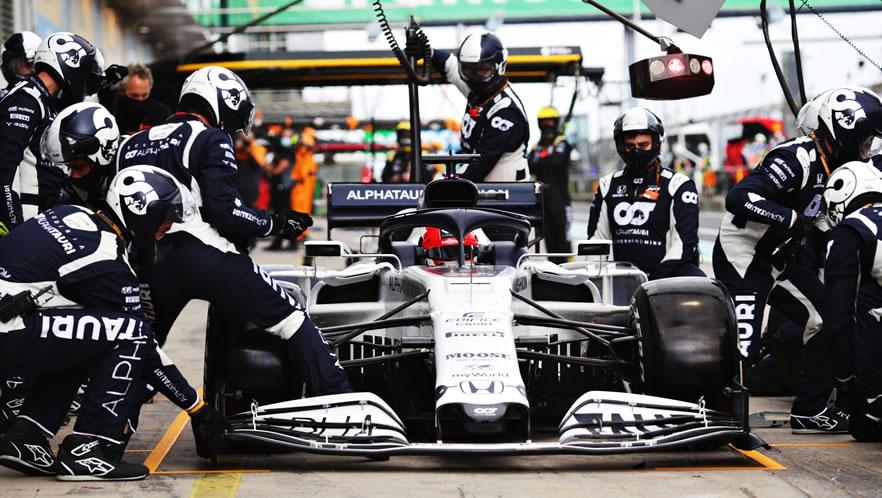 Gran Premio Eifel 2020 con Daniil Kvyat della Scuderia AlphaTauri