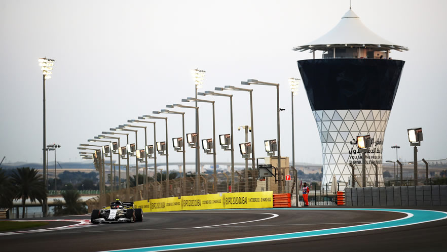Abu Dhabi Grand Prix qualfying 2020 with Pierre Gasly by Scuderia AlphaTauri