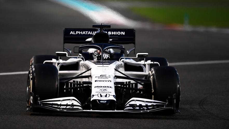 GP Abu Dhabi 2020 con Daniil Kvyat della Scuderia AlphaTauri